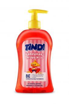 TINDI 2in1 šampūnas ir prausiklis vaikams  su kviečių gemalų ekstraktu ir pantenoliu (500 ml)