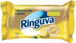 RINGUVA skalbiamasis muilas su glicerinu citrinų kvapo (150 g)