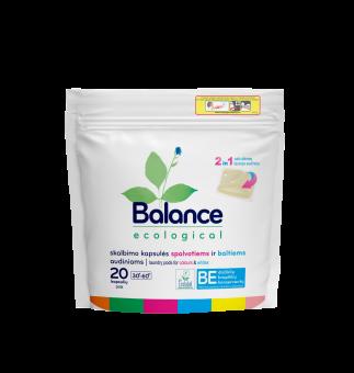 BALANCE ekologiškos kapsulės spalvotiems ir baltiems audiniams (20 vnt.)