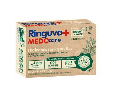 RINGUVA MEDO CARE higieninis rankų muilas su ekologišku arbatmedžių eteriniu aliejumi ir alavijų ekstraktu (90 g)