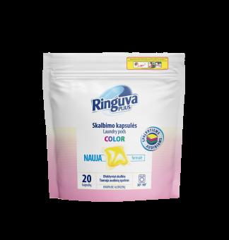 RINGUVA PLIUS skalbimo kapsulės spalvotiems audiniams (20 vnt.)
