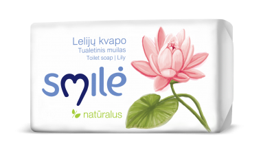 SMILĖ toilet soap with ecological cream and aroma of lilies (90 g)