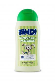 TINDI 2in1 šampūnas ir prausiklis vaikams su alyvuogių aliejumi ir medetkų ekstraktu (210 ml)