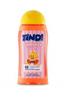 TINDI šampūnas vaikams su kviečių gemalų ekstraktu ir pantenoliu (210 ml)
