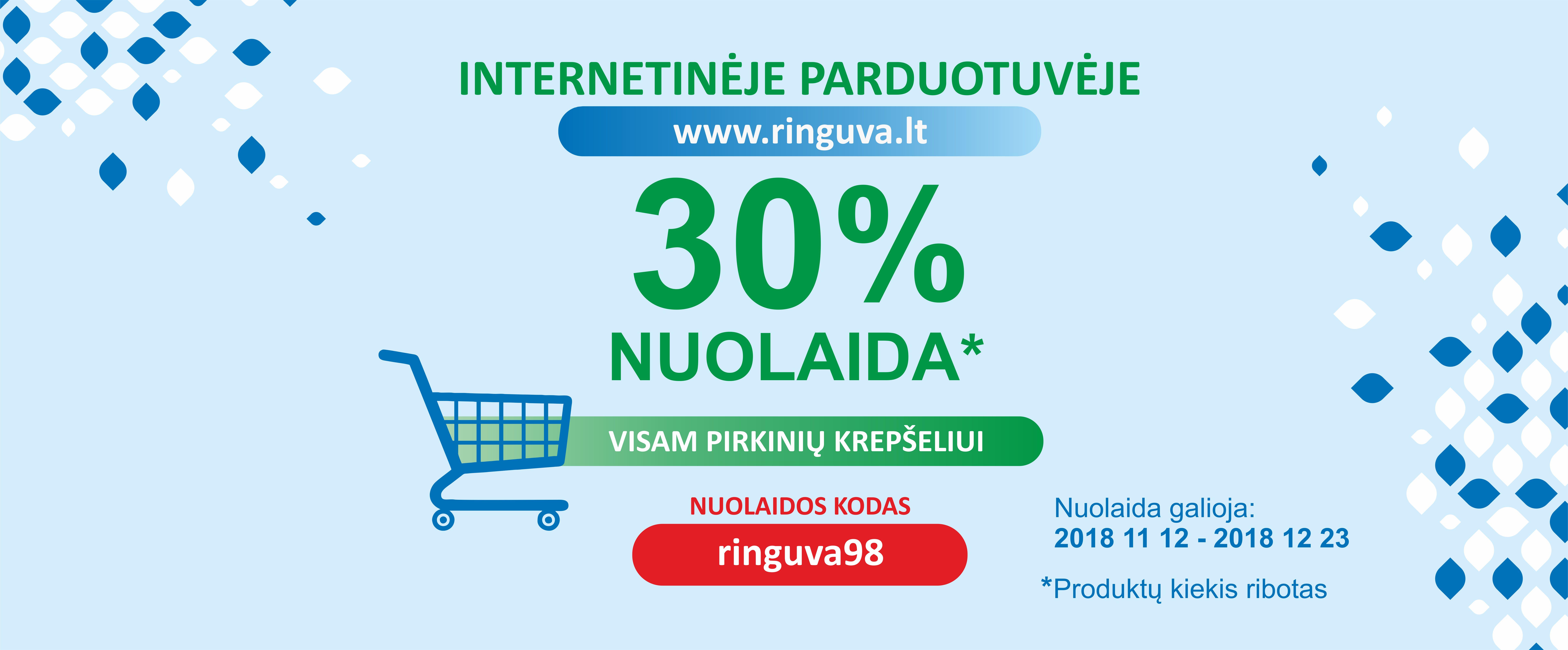 -30 proc. nuolaida